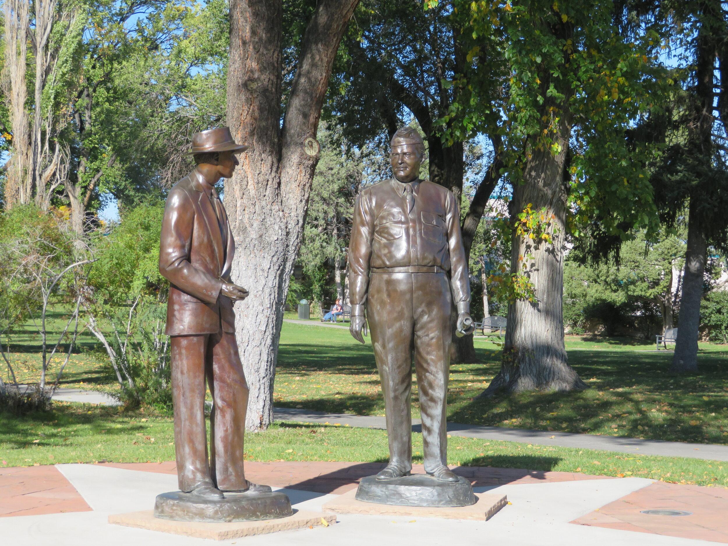 Statue of Oppenheimer & Groves