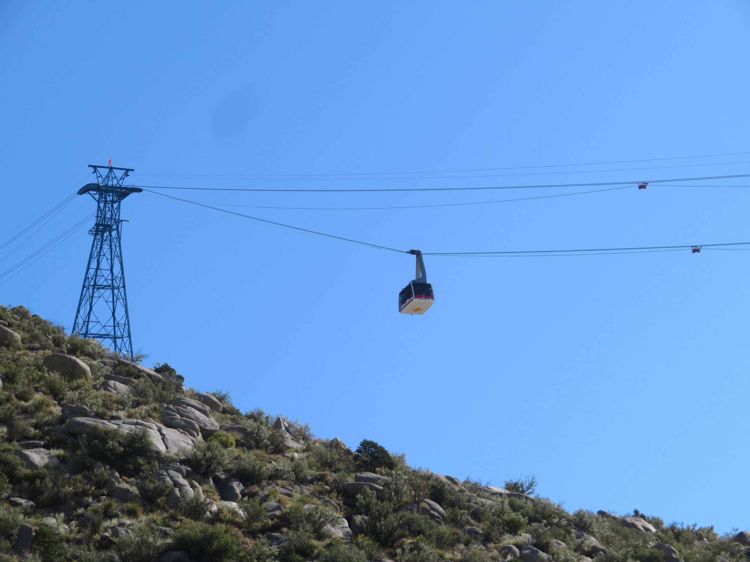Watching the tram ascend from the base station