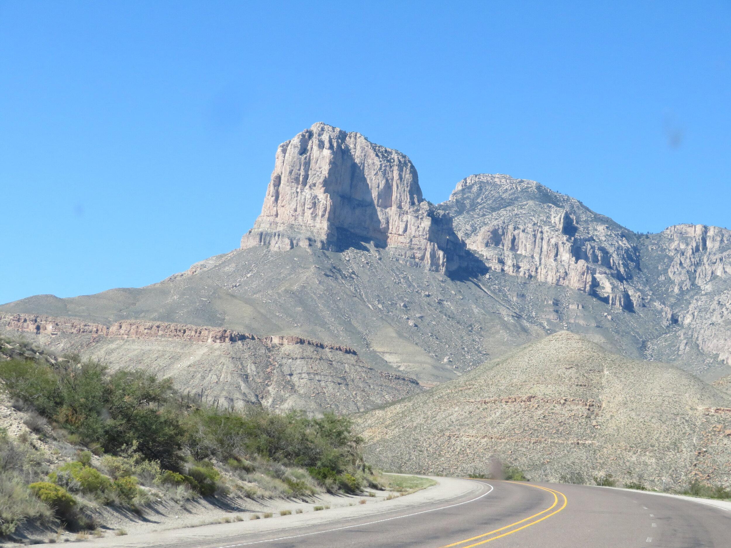 El Capitan dominates the landscape when traveling on Rtes 62/180.