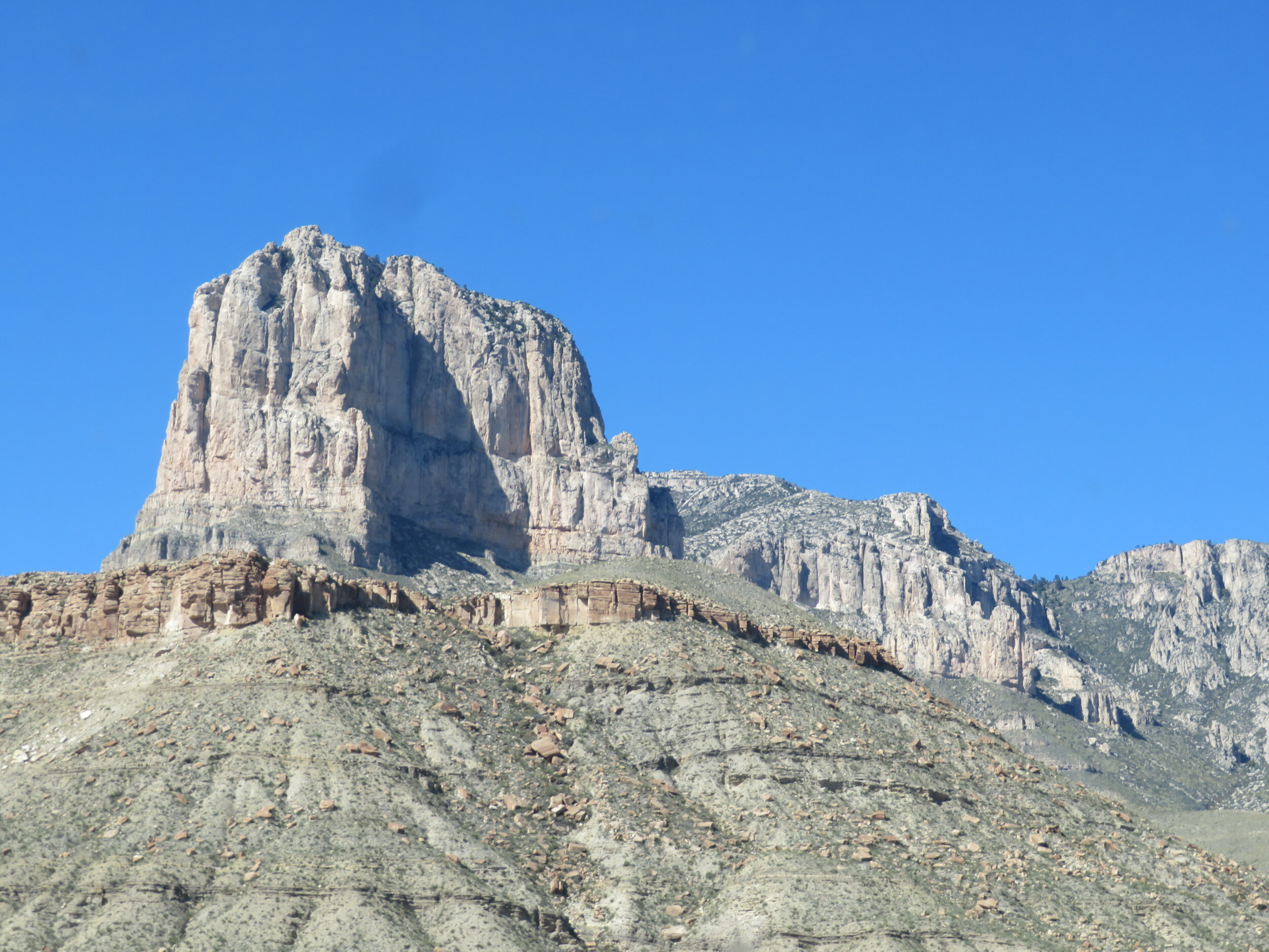 El Capitan - 5 miles away … has been a natural landmark to generations of travelers who have passed through this stark and arid land.