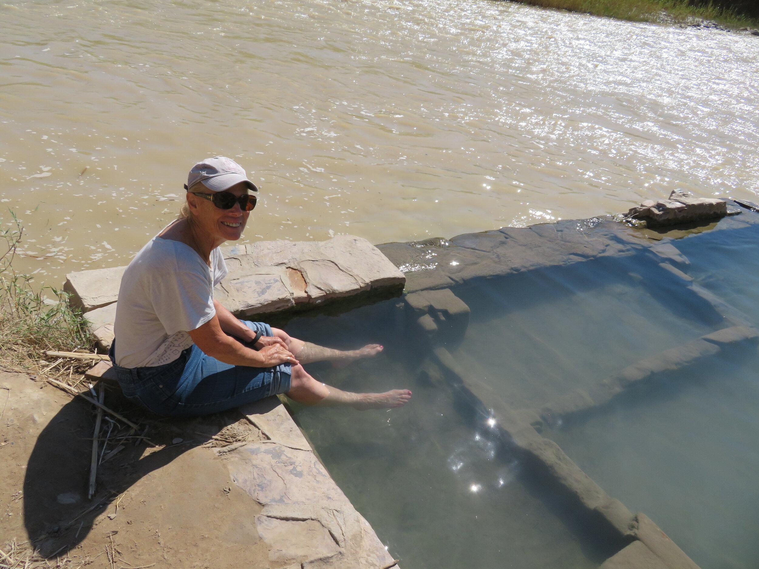Hot springs, cold Rio Grande