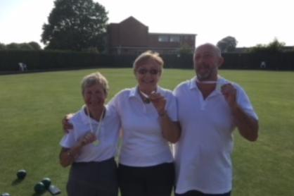 CLUB TRIPLES   Winners - Joy Heath, Hazel Hembling, Martin Askham  Runners Up - Kath Oates, Betty Hankin, Jill Freeman