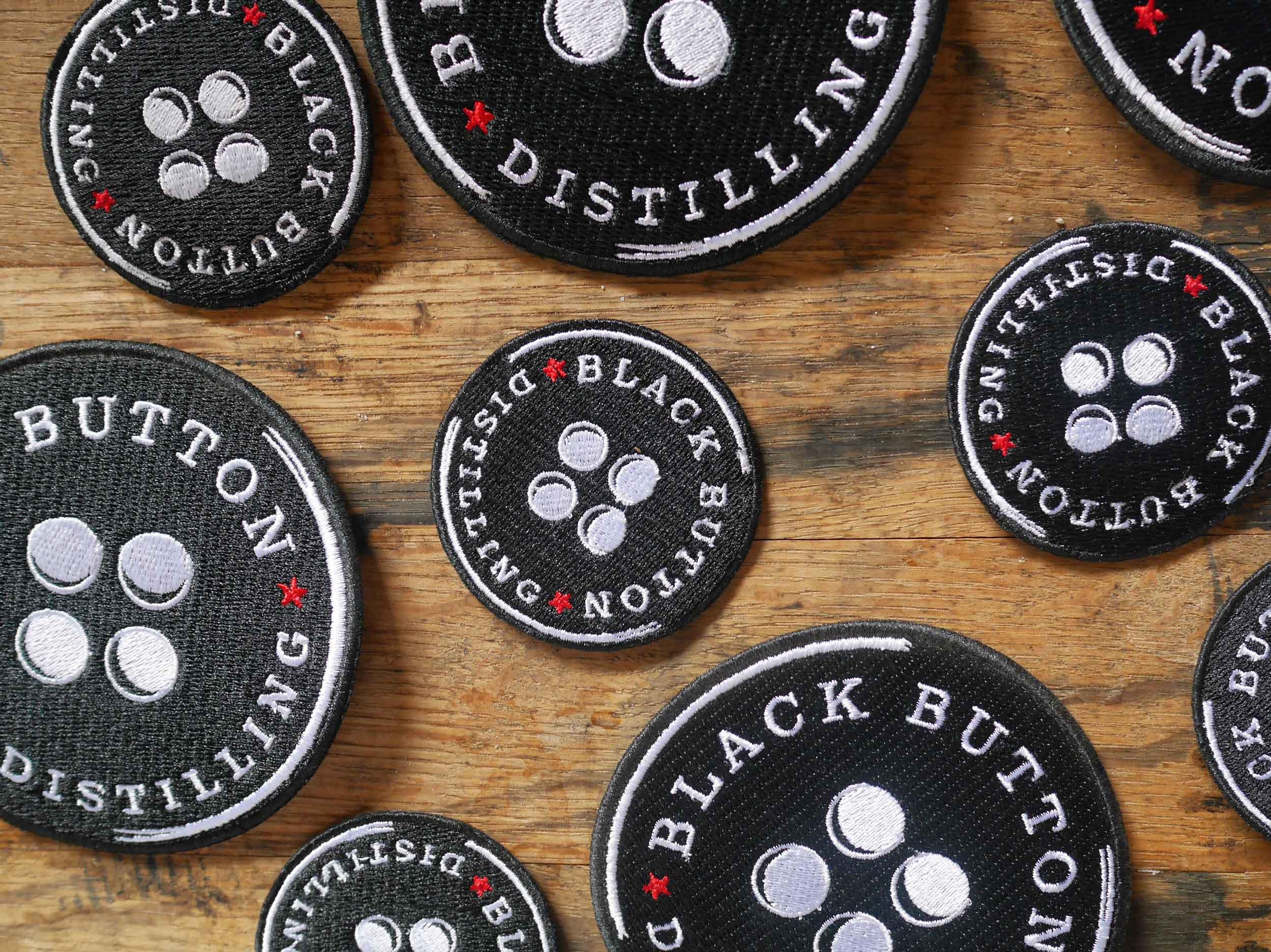 Black Button Distilling Patches