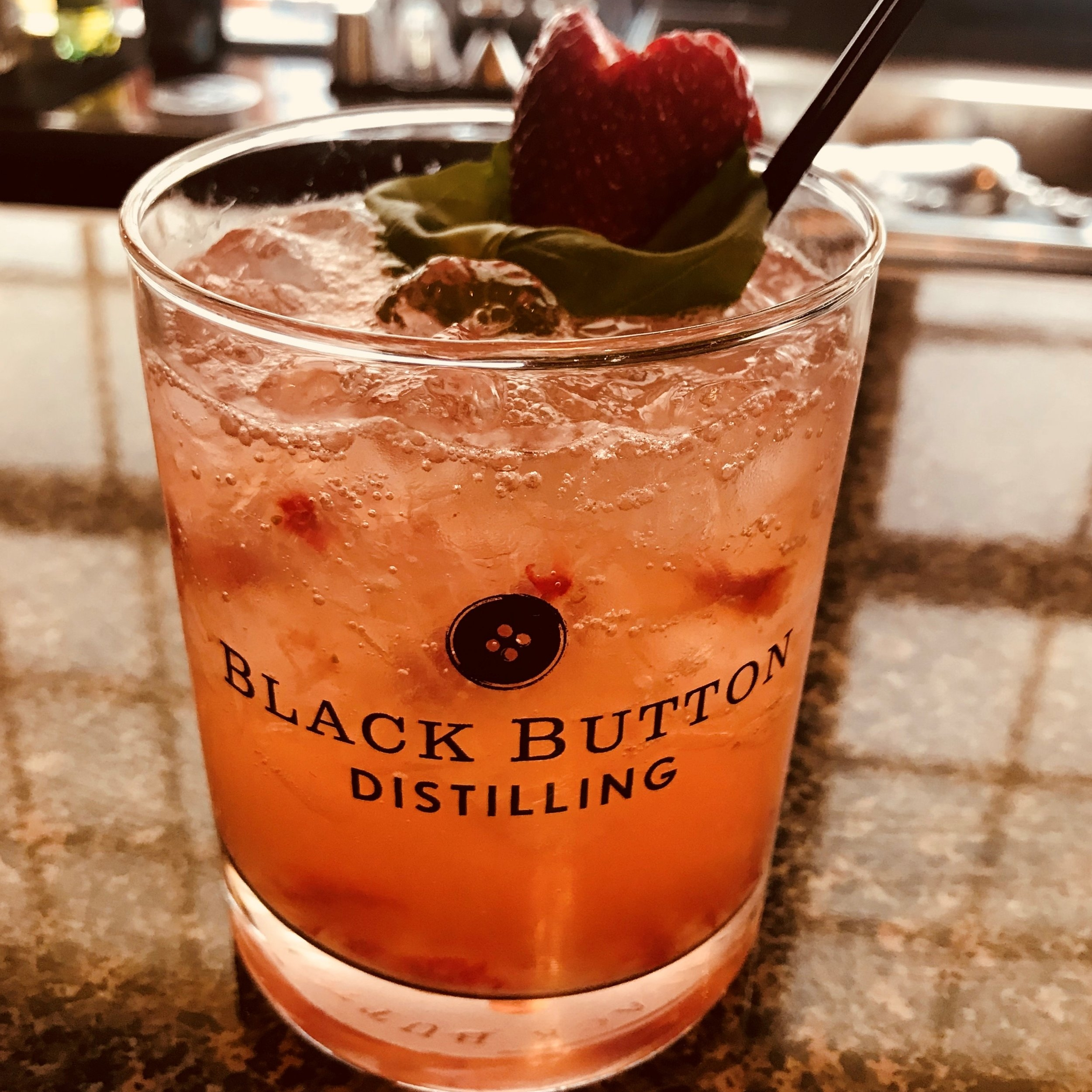 Black Button Distilling award winning citrus forward gin cocktail