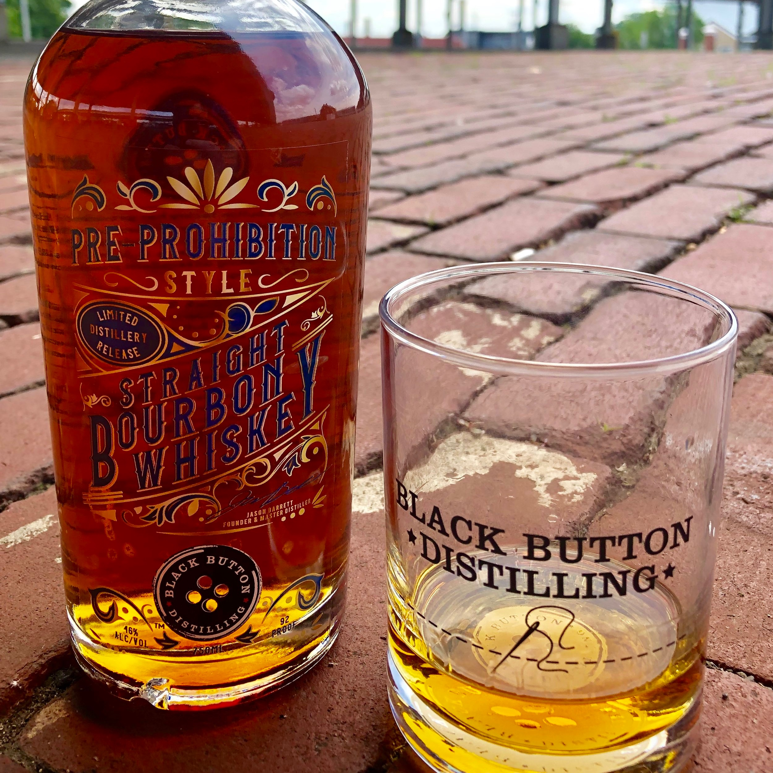 Black Button Distilling Award Winning Pre-Prohibition Style Straight Bourbon Whiskey