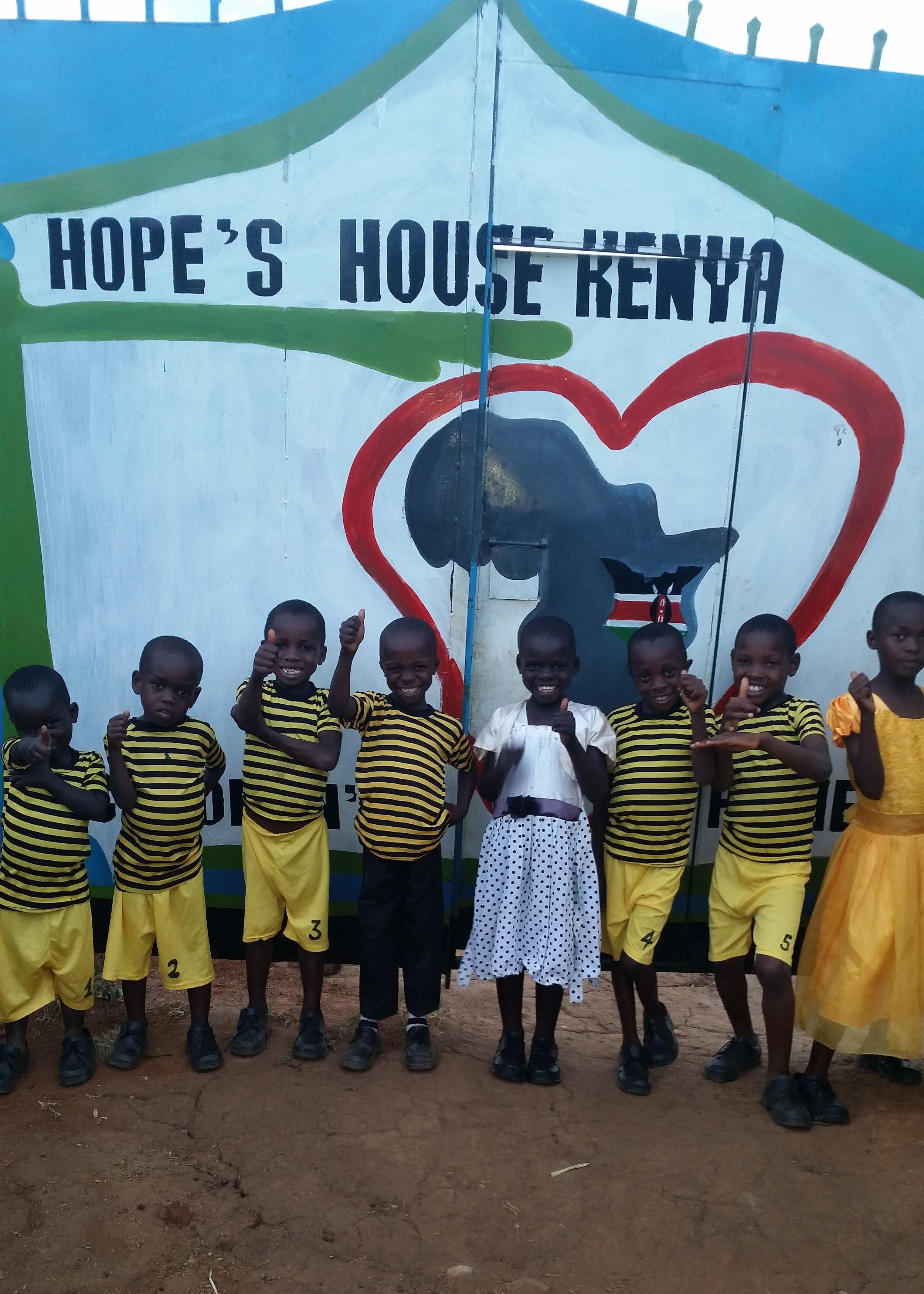 This is a photo of all 8 kids in the young children's home, just after Faith, Susan, and Samuel received the gift of HOPE and a future in their new home, along with Abel, David, John, Emmanuel, and Peter who have been a family for about 4 months. Never underestimate the power of LOVE!