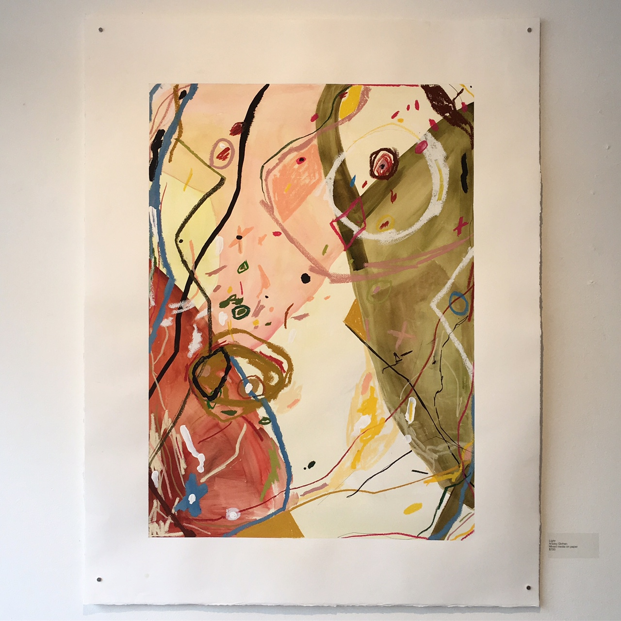 "Light   Mixed media on paper  36"" x 46""   SOLD"