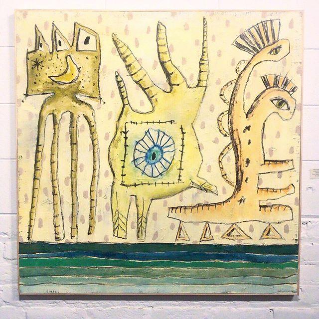 """40"""" x 40"""" oil on panel - three figures"""