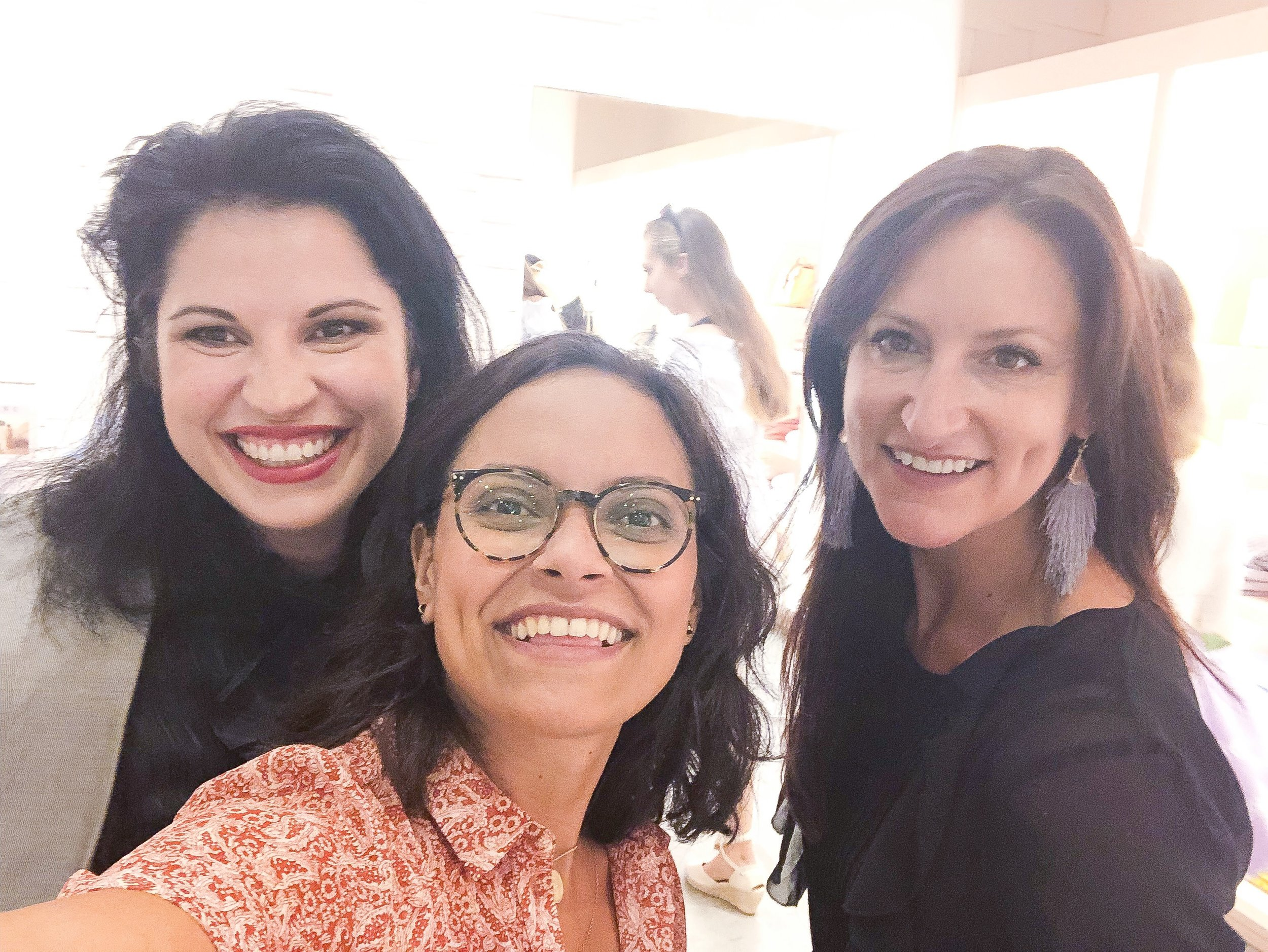 With Beatriz Zeno (Sezane COO) & Jennifer Poppers (PR)
