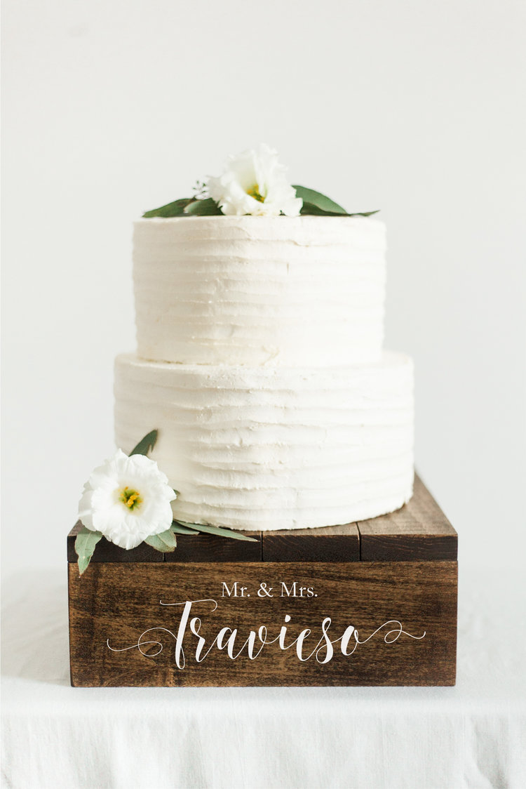 Rustic Wooden Cake Stand  Cupcake Stand  Wedding Cake Stand  SS-9 —  Sweet Carolina Collective