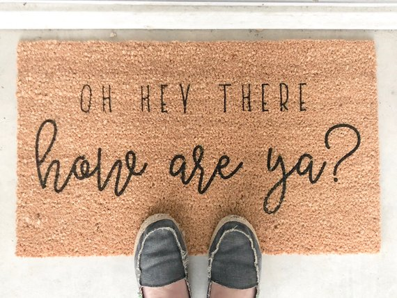 Couples Gift, Housewarming Gift Welcome Mat Personalized Doormat