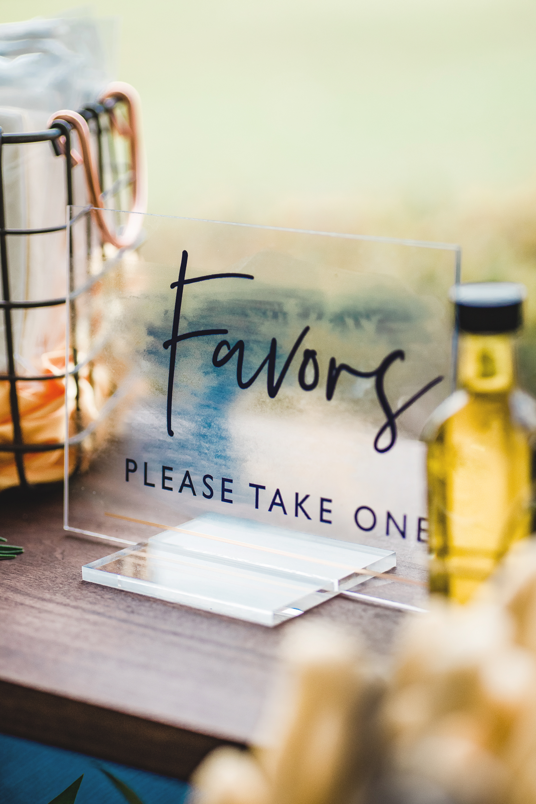 Copy of Acrylic favors sign