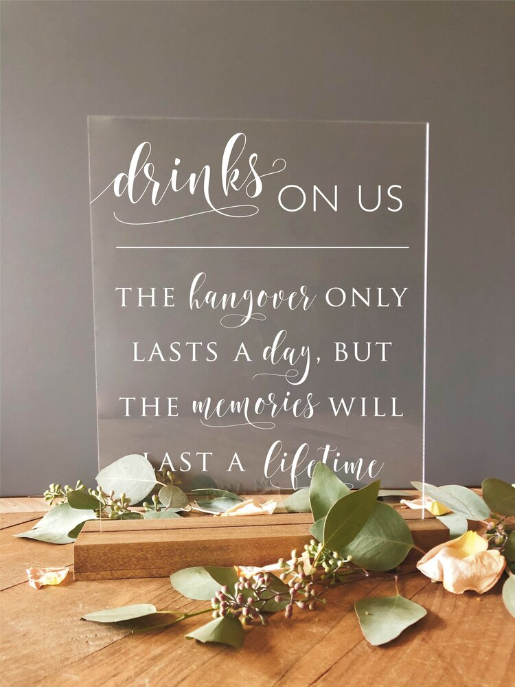 Wedding Acrylic Sign Hand Sanitizer Favors Social Distancing Sign Spread Love Not Germs Sign
