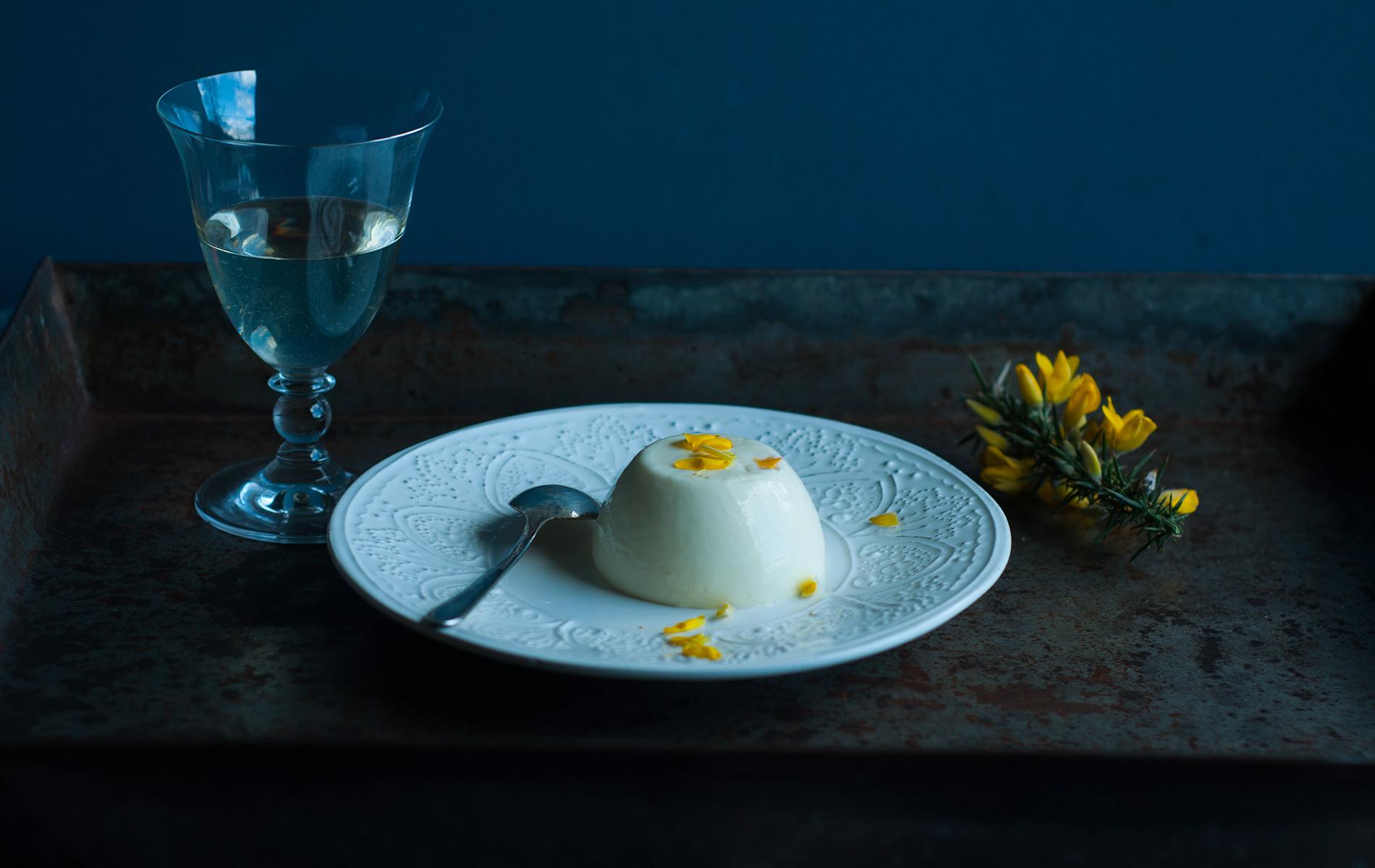 Gorse and Yoghurt Panna Cotta, Breaking Eggs