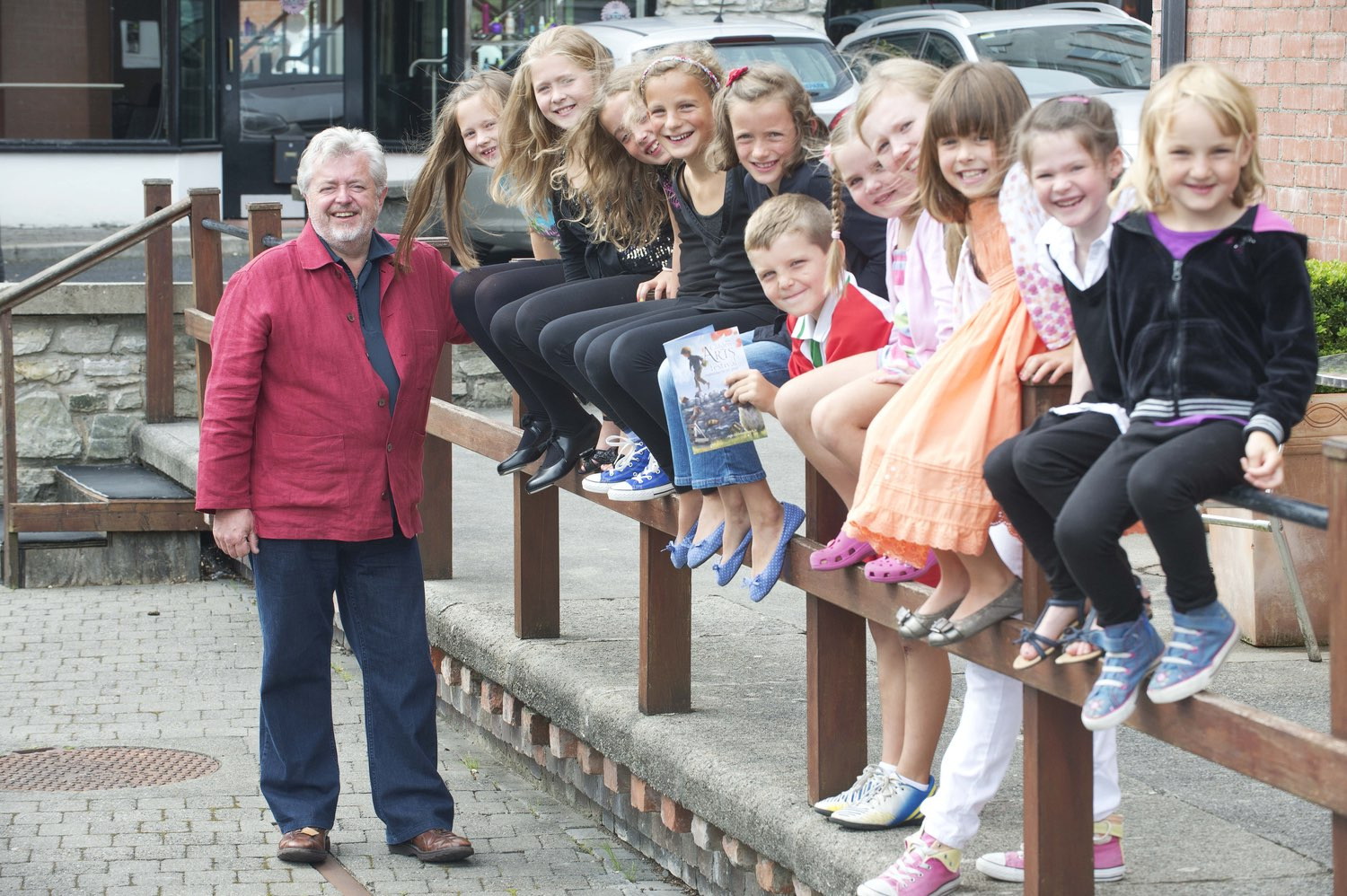Teacher and students from Clifden Community School pose for photo