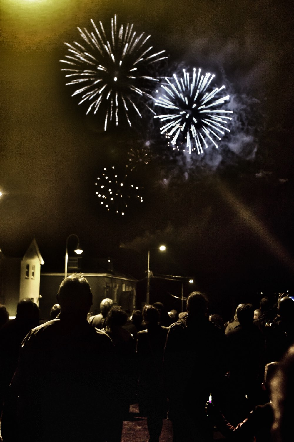 Fireworks show at the Clifden Arts Festival