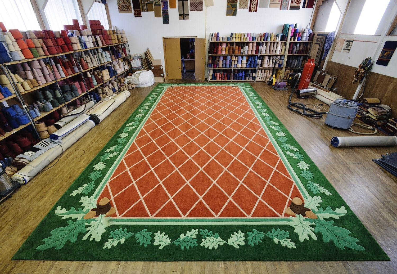 Acorn finished carpet, made my Connemara Carpets.