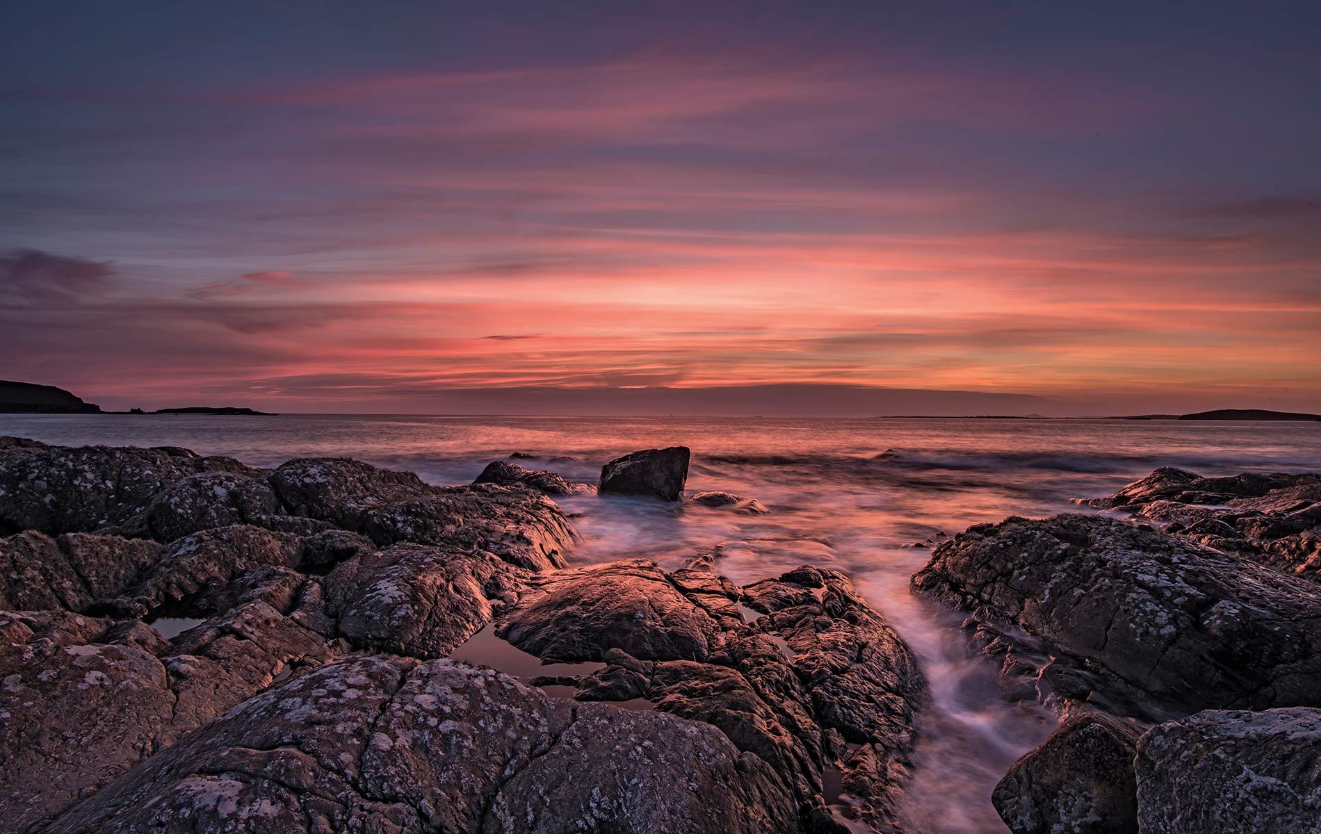 An early autumn sunset off the Errislannan Peninsula. Photo by Mark Furniss