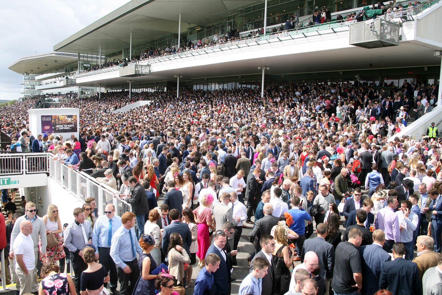 Crowd in the stands at the Galway Races 2015.