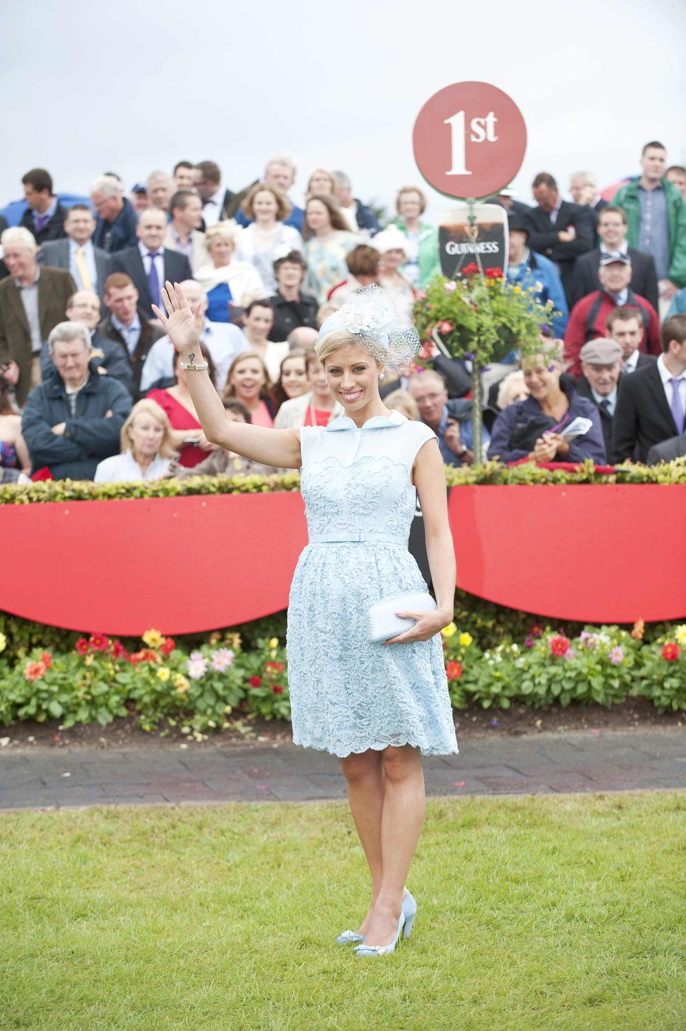 Rachelle Guiry from Limerick is the winner of Best Dressed Lady at Ladies day at Galway Races 2013.