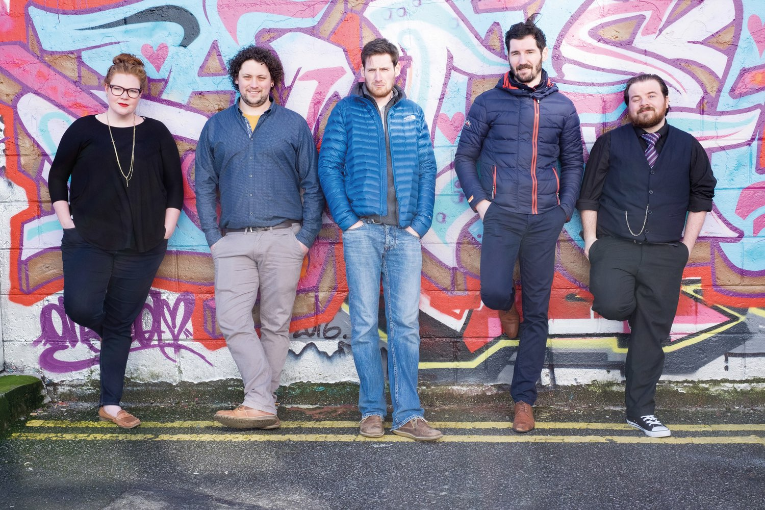 The Nádhúra team is made up of GMIT Letterfrack graduates.  Left to right:  Ainslie Peters, Oisin White, Peter Ranalow, Mark Leonard, and Michael Cooney. Photo by Gerard Conneely