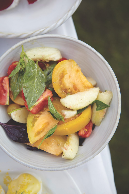 Fresh garden salad at Ballymaloe Cookery School