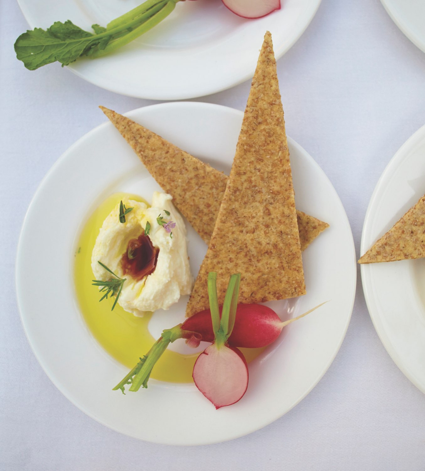 Creative appetizers displayed at Ballymaloe Cookery School