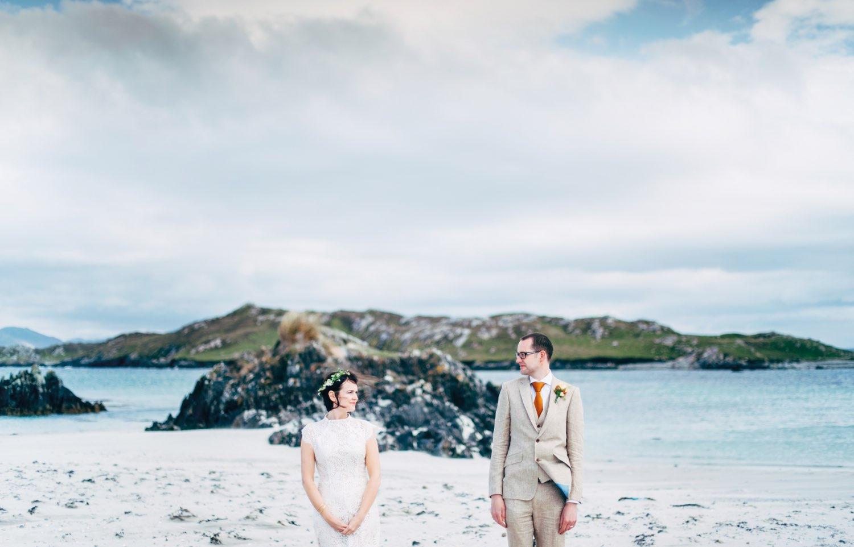 Nease Cooke and John French Wedding, Inishbofin House Hotel, Inishbofin. Photography by Darek Novak.