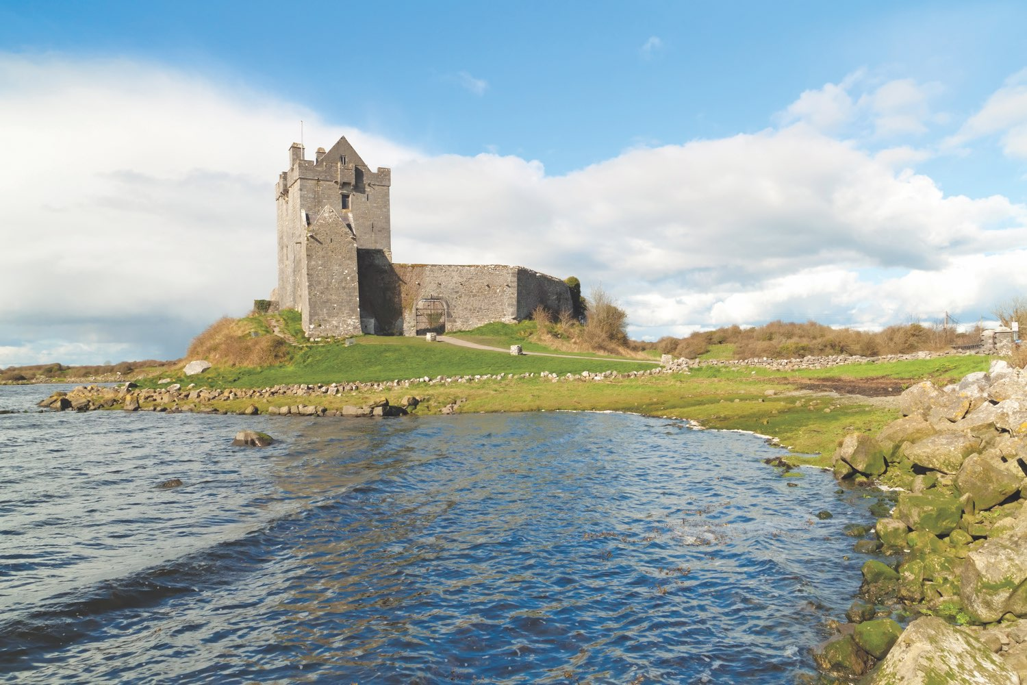 Dunguaire Castle is a sixteenth-century tower fortress near Kinvara in County Galway