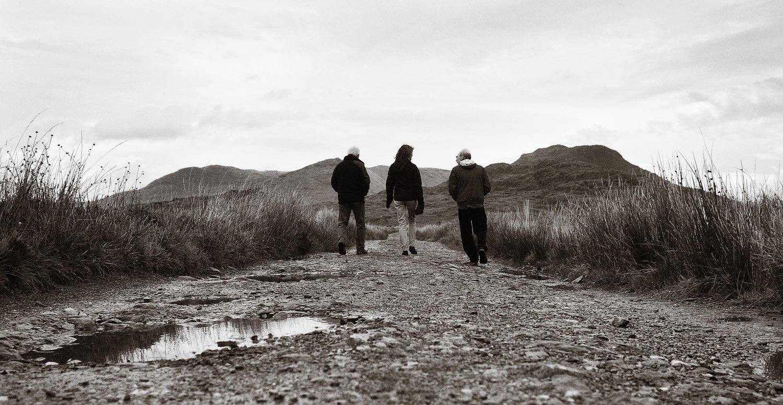 Eamon Grennan, Tegolin Knowland, and Sean Coyne