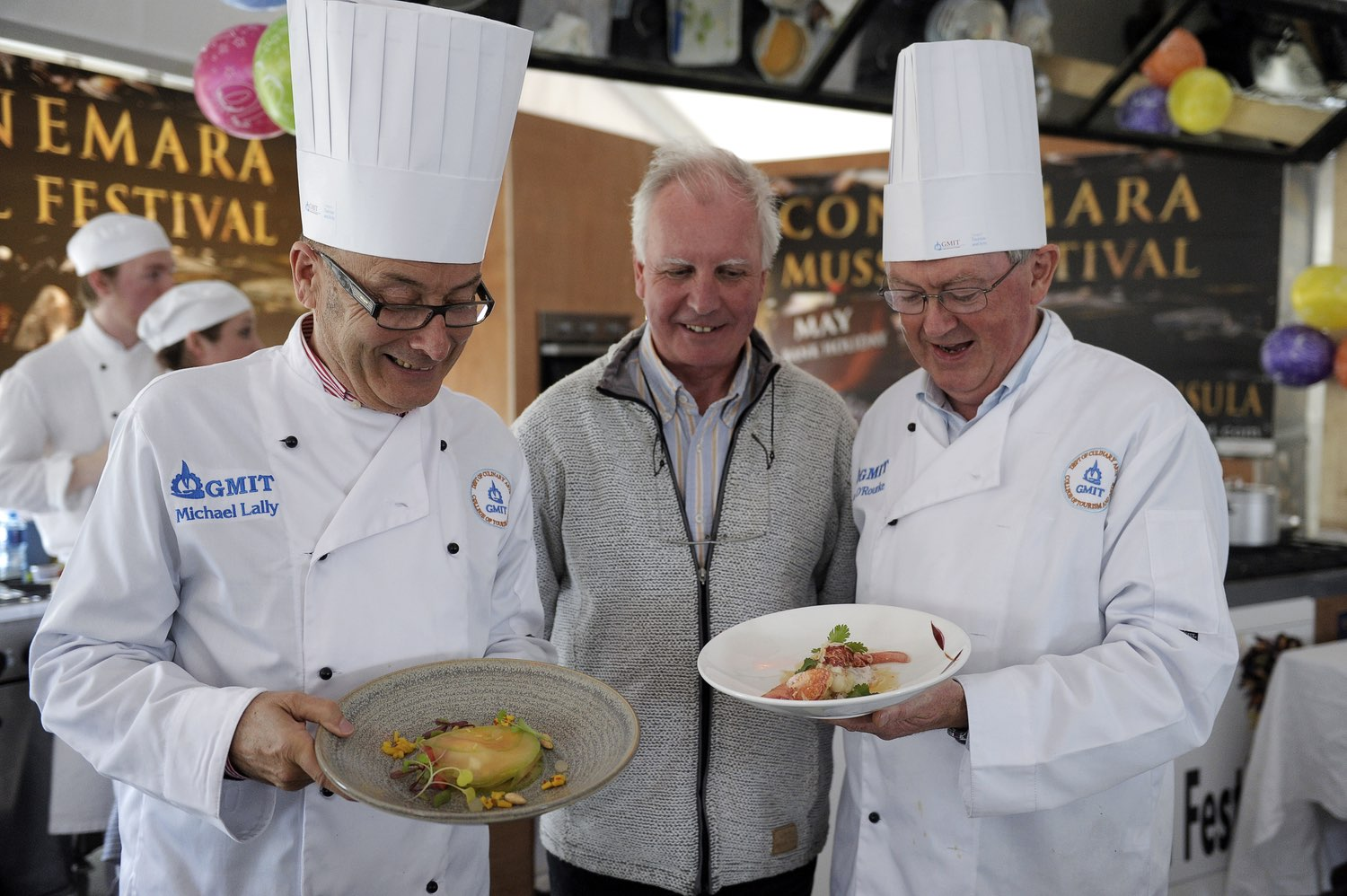 Festival Chefs presenting their dishes