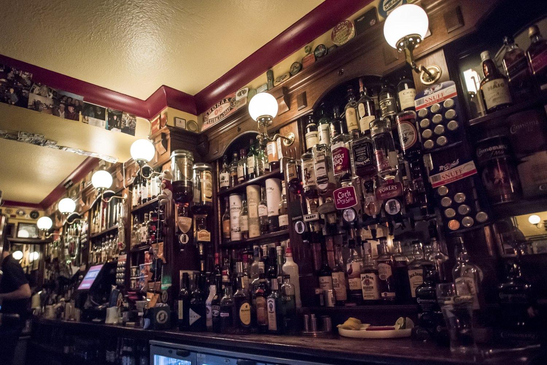 Irish pub taps