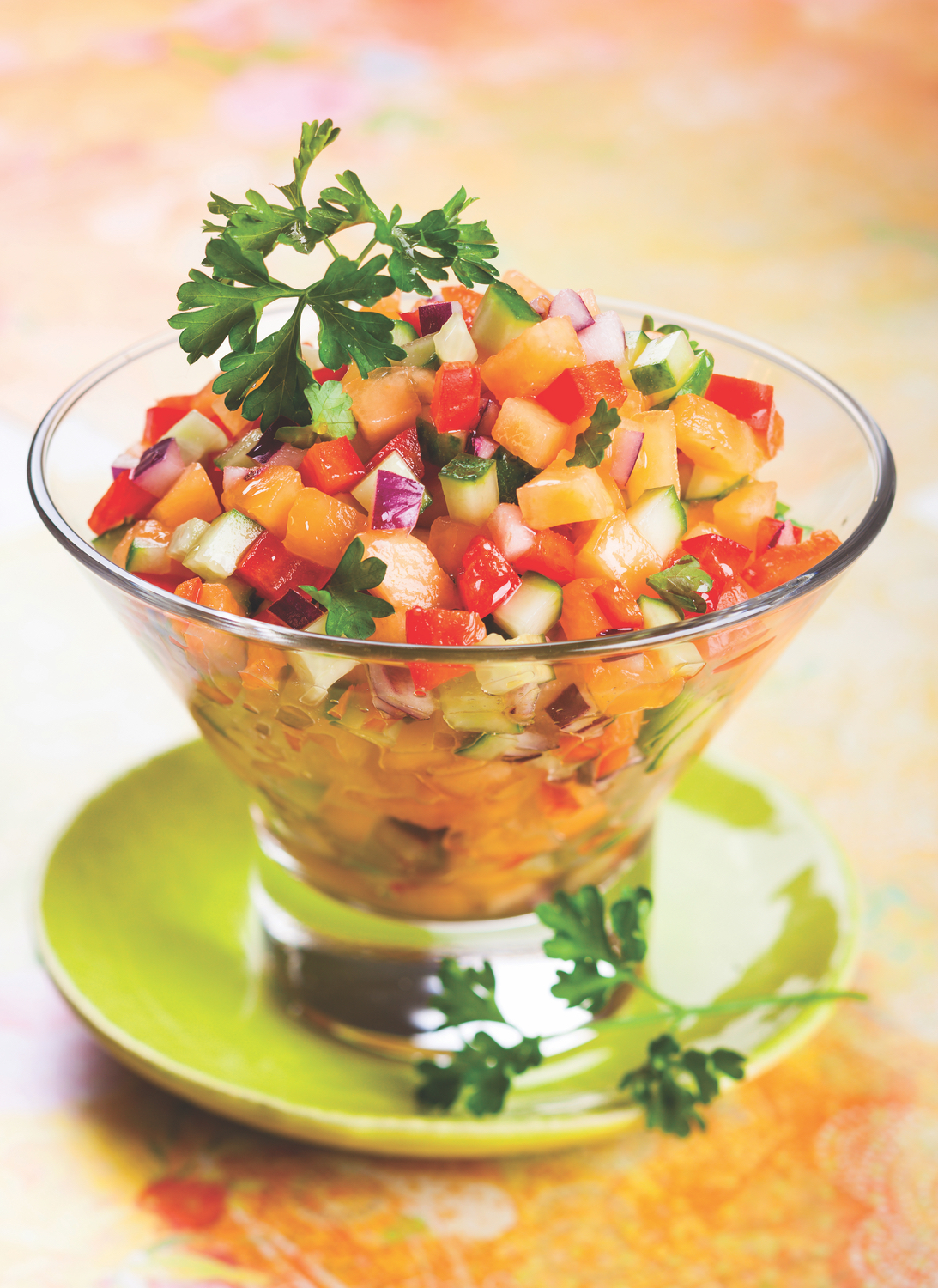 Melon and Cucumber Salsa Renvyle House Hotel