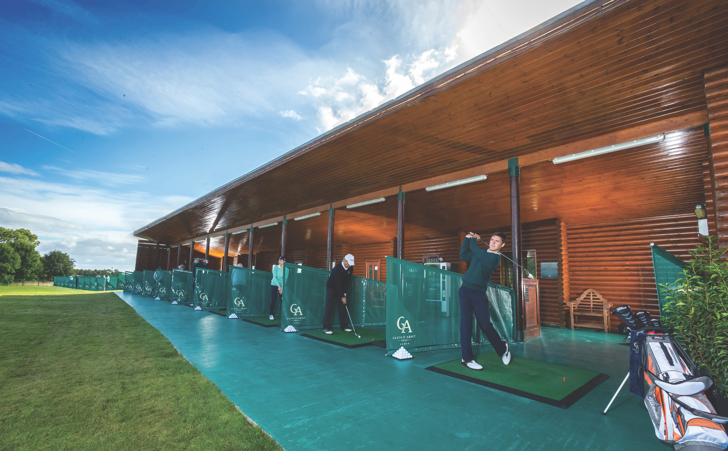 Glenlo Abbey Golf Club: a nine-hole championship golf course designed by Christy O'Connor Jnr. Golf lessons on a one-to-one basis with golf professional Gary Madden are both fun and informative and are complemented by the superior facilities of the twenty-one-bay driving range.