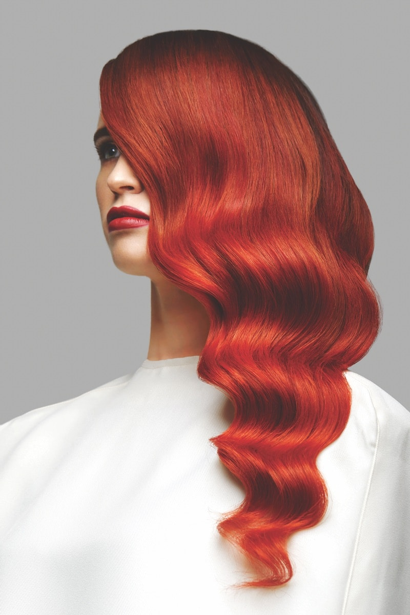 """The Ignium wig styles created by stylists from Bellissimo Galway represent the vibrancy and fire both in the salon's """"tribe"""" members and the fiery colors they used in the collection."""