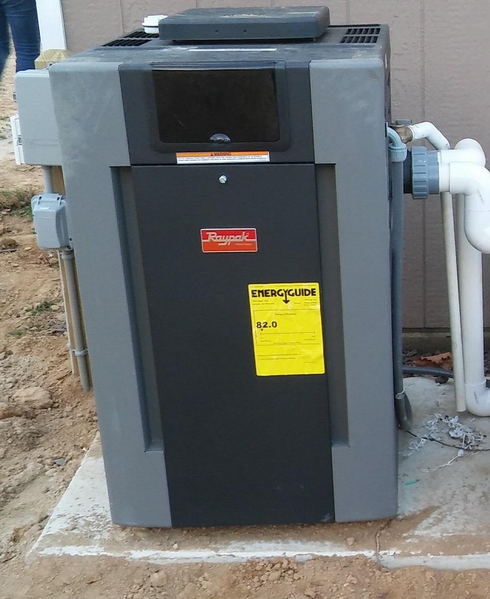 Heater to extend your swim season, gas or propane