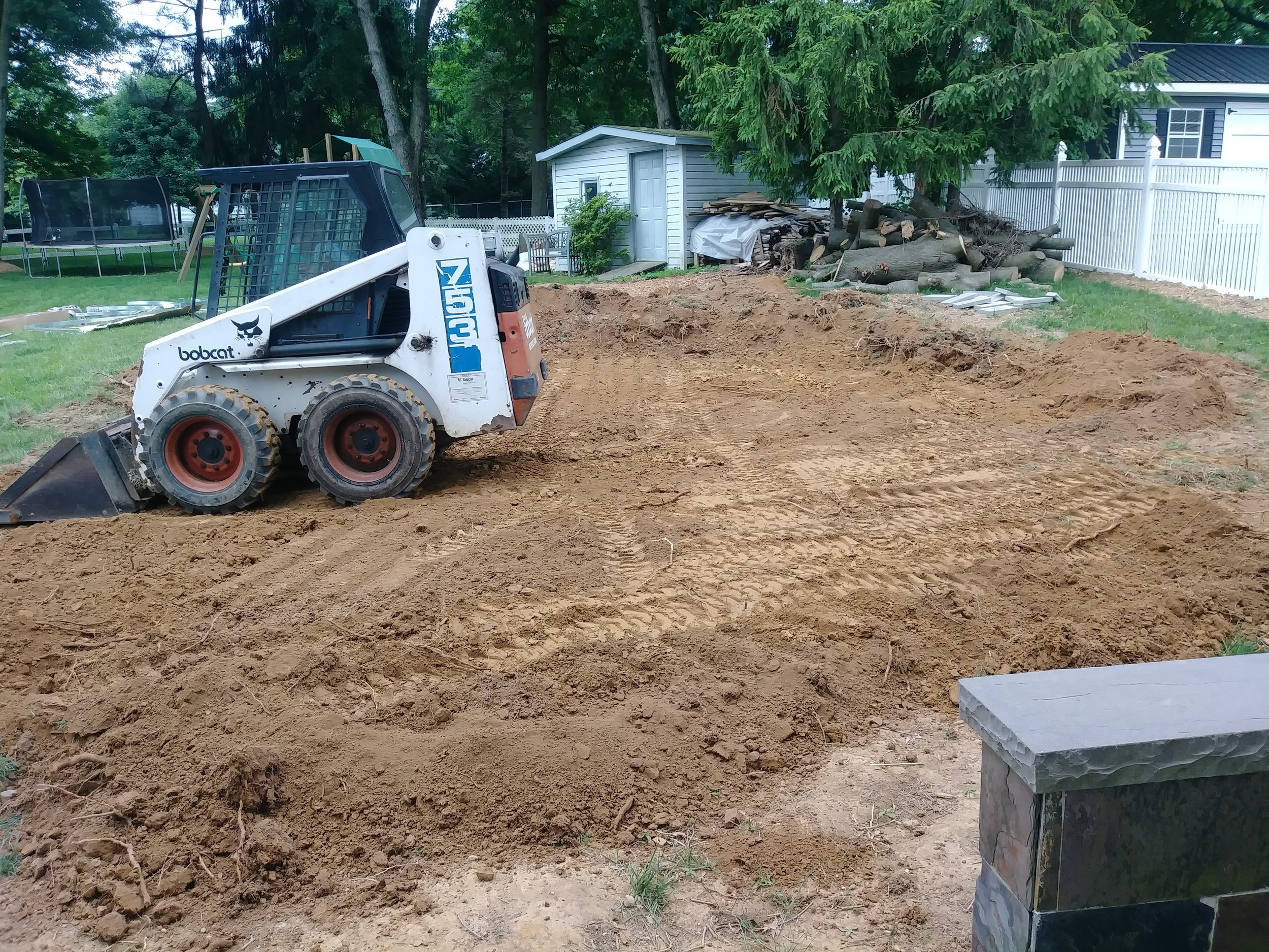 Loader to come in to level ground