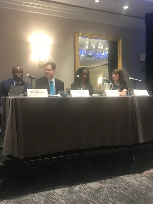Dr. Richardson with panelists: Dr. Kafui Dzirasam, Mr. Ian N. Kremer and Dr. Ivana Rubino