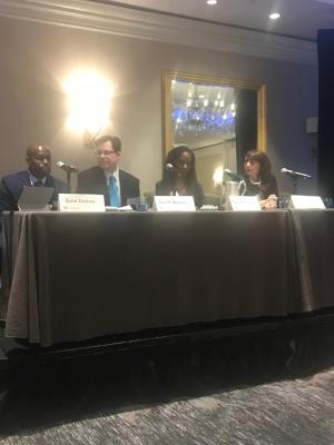 Dr. Richardson with panelists: Dr. Kafui Dzirasam, Mr. Ian N. Kremer and Dr. Ivana Rubino