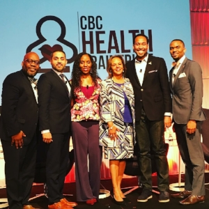 Dr. Richardson with Congresswoman Robin Kelly and panelists: Mr. David Johns, Dr. Ulysss Burley, Mr. Anthony Smith and Mr. Charley John