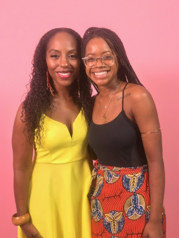Dr. Nadia Richardson (No More Martyrs) with Ms. Chelsea Vonchaz ( #HappyPeriod )