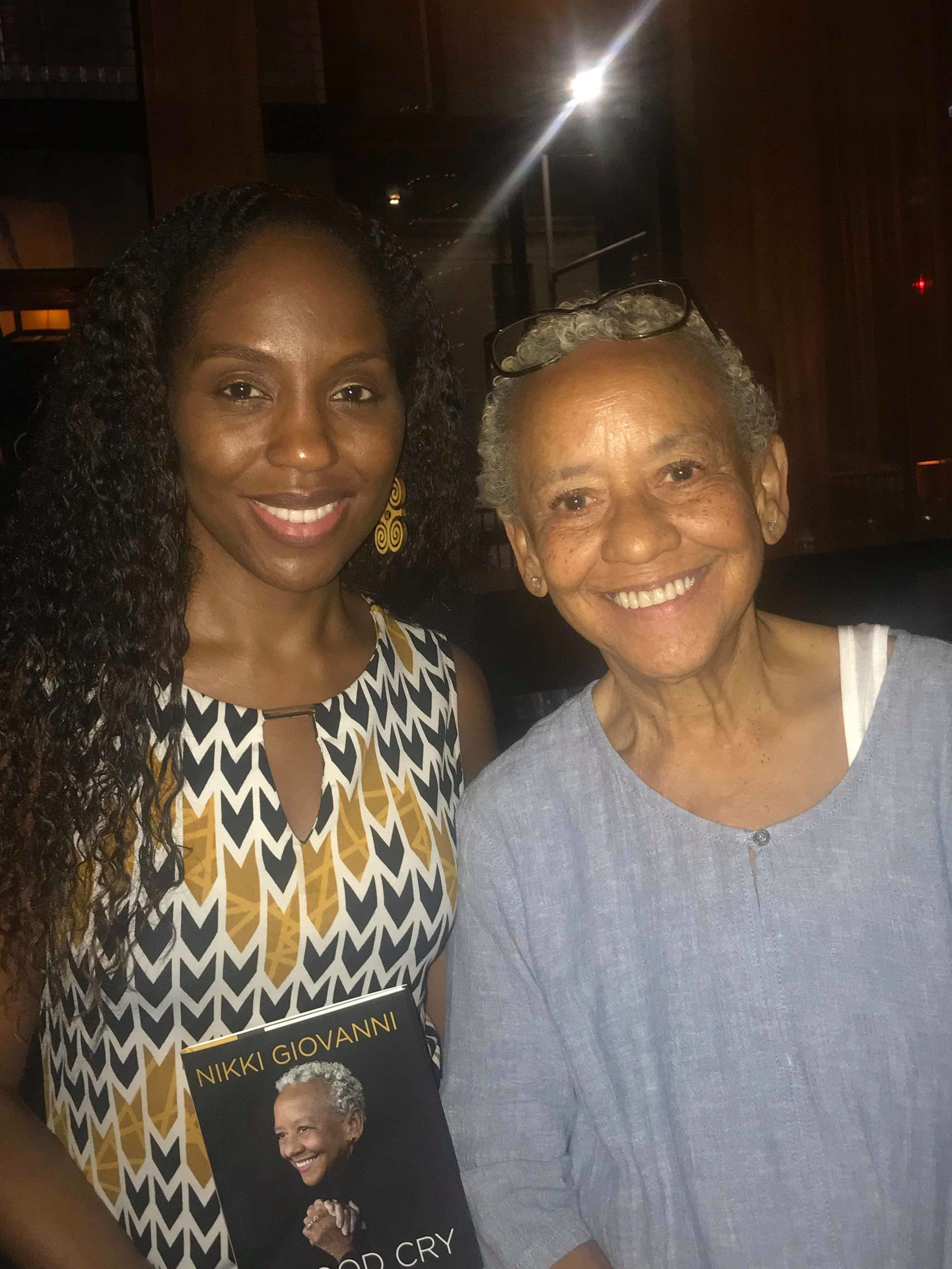 Nikki Giovanni - Nikki Giovanni pictured here with Dr. Nadia Richardson of No More Martyrs.