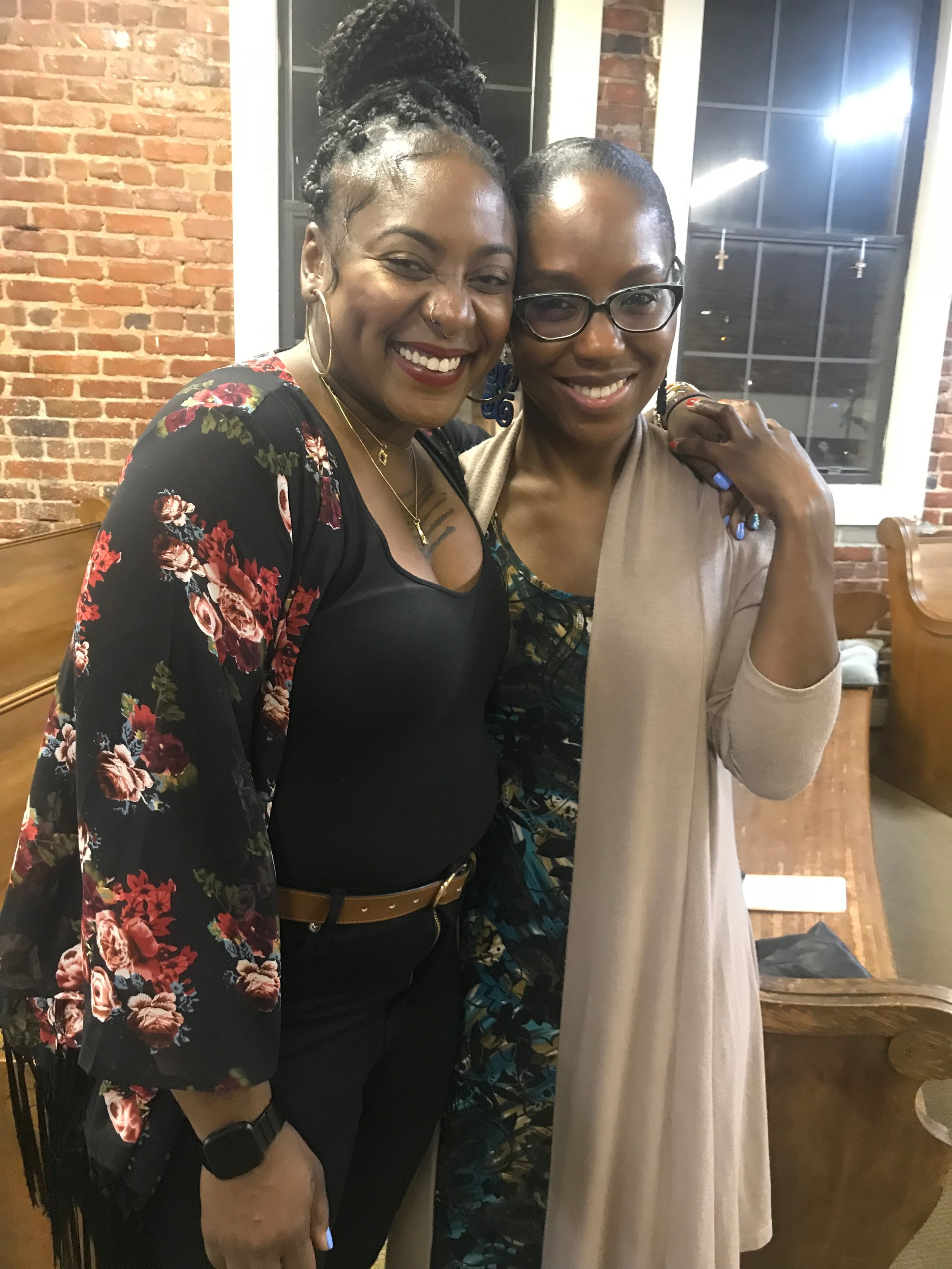 Alicia Garza - Alicia Garza pictured with Dr. Nadia Richardson of No More Martyrs.