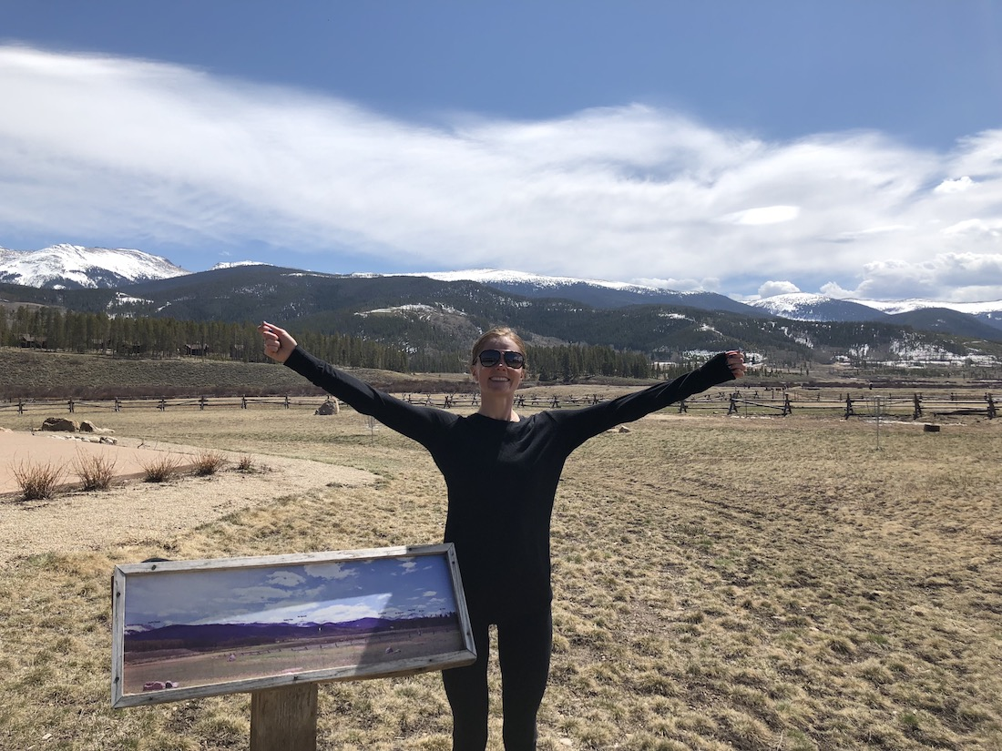 Me embracing space! This was part of a long walk near Winter Park, CO.