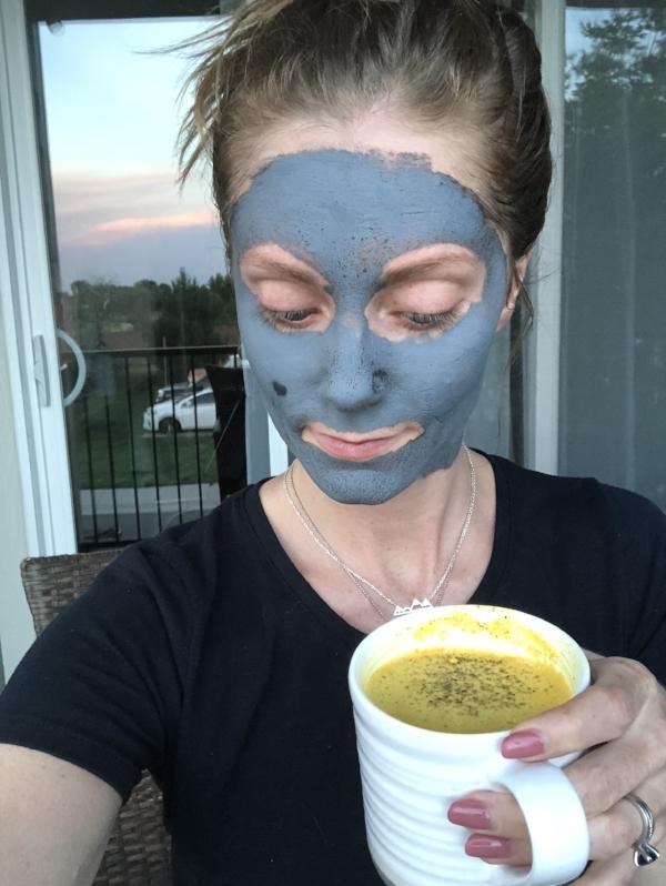 Golden milk, face mask, quiet time. Vata balancing activities.
