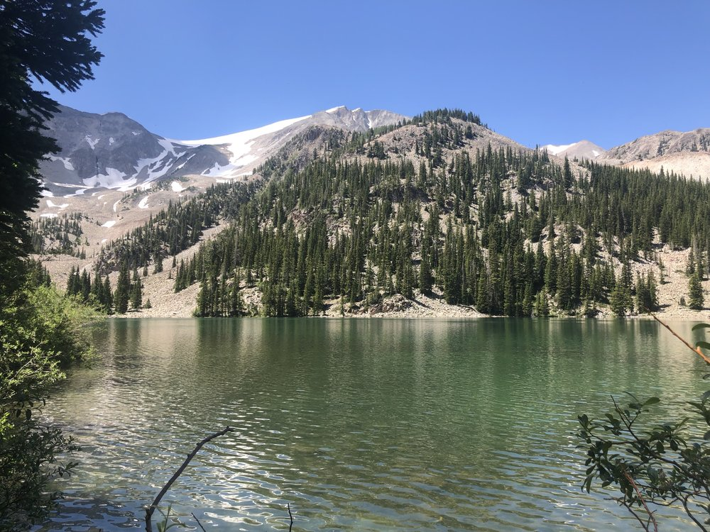 Behind the lake is the 12,000 mountain we climbed on our 6.5 hour hike!