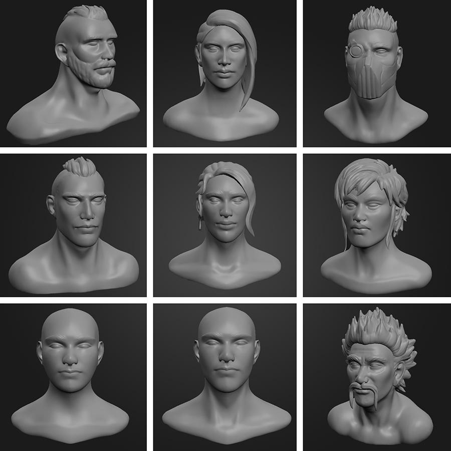 3D Busts