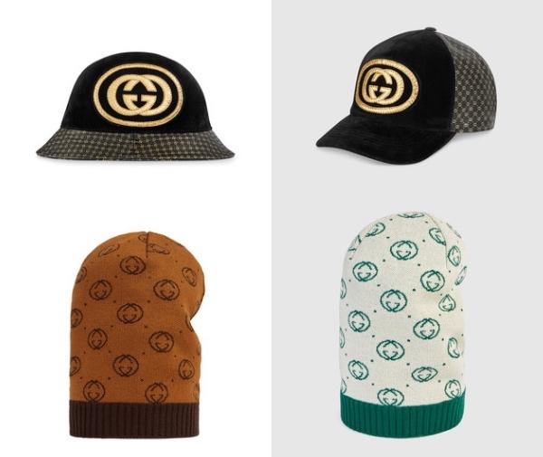 Photo: Gucci グッチ    Gucci-Dapper Dan ゴールドロゴ・ハット  Gucci-Dapper Dan ゴールドロゴ・キャップ   Dapper Danロゴ ニット帽子