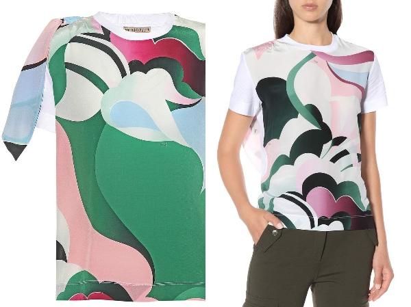 エミリオプッチ 抽象的・グラフィック・多色プリント Tシャツ   Photo: mytheresa