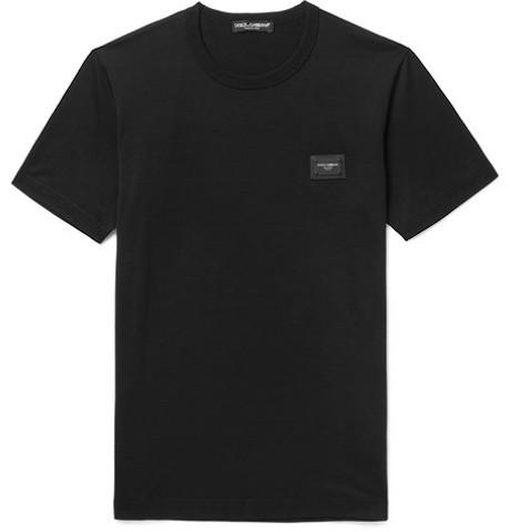 ドルチェ&ガッバーナ ロゴ・マニア・レターパッチ Tシャツ   Photo:Mr Porter